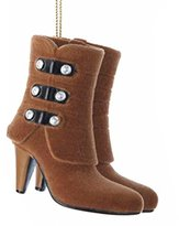"Kurt Adler 2.25"" Fashion Avenue Tan High Heel Boots Christmas Ornament"