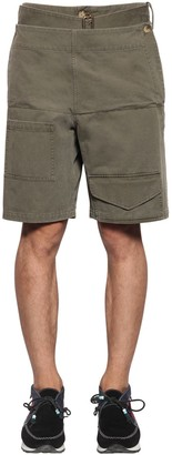 J.W.Anderson Folded Front Cotton Shorts W/ Belt