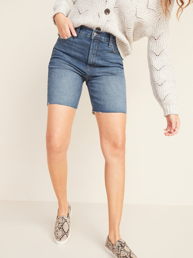Old Navy Extra High-Waisted Sky-Hi Cut-Off Jean Shorts for Women -- 7-inch inseam