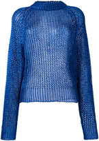 Balmain open knit jumper - women - Polyamide/Polyester/Viscose - 38
