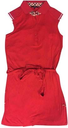 Daks London Red Cotton Dress for Women