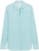 Altuzarra Chika Gingham Crepe Shirt - FR36