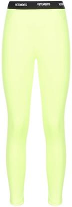 Vetements Logo Waistband Leggings