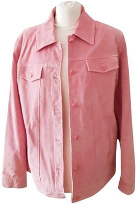 Dennis Basso Pink Leather Jacket for Women Vintage