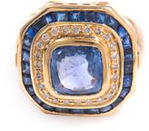 Jade Jagger Diamond, sapphire & gold basket ring