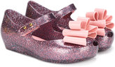 Mini Melissa bow detail ballerinas