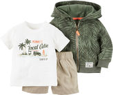 Carter's 3-pc. Hoodie, Tee and Shorts Set- Baby Boys newborn-24m