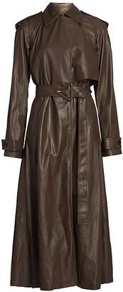 Bottega Veneta Long-Line Leather Trench Coat