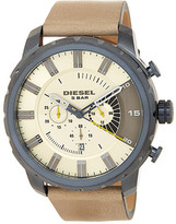 Diesel Men&s Stronghold Chronograph Leather Strap Watch