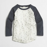 J.Crew Factory Girls' glitter hearts baseball T-shirt
