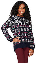 Aeropostale Bah Humbug Drop Shoulder Long Sleeve Holiday Sweater
