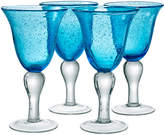 Artland Turquoise & Aqua Iris Goblet - Set of Four