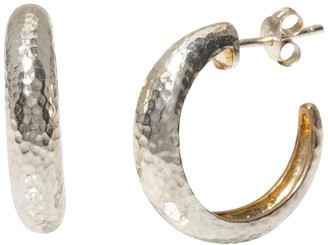 Gurhan 24K Gold Vermeil & Sterling Silver Hammered 20mm Hoop Earrings