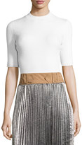 3.1 Phillip Lim Ribbed Open-Back Sweater, White