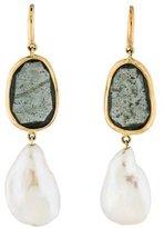 Yvel 18K Aquamarine & Pearl Drop Earrings