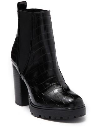 Steve Madden Raina Croc Embossed Chelsea Boot