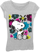 Freeze Heather Gray Peanuts Snoopy Tee - Girls