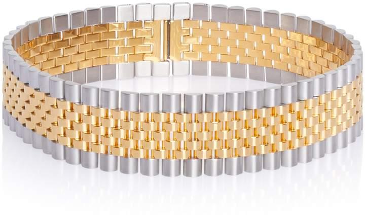 Alexander Wang Gold Watchband Choker