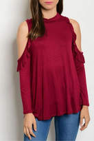 Sweet Claire Burgundy Top