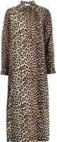 Ganni Leopard-Print Shirt-Dress