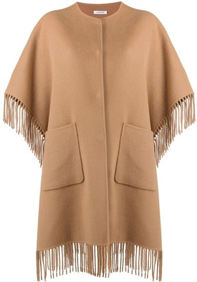 P.A.R.O.S.H. Fringed Poncho Coat