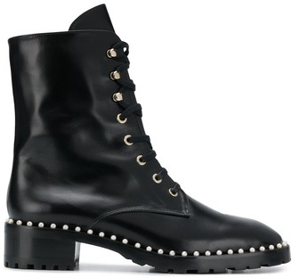 Stuart Weitzman Embellished Military Boots