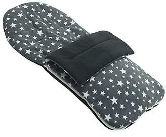 Hauck Fleece Footmuff Compatible with Stroller Buggy Pram - Grey Star