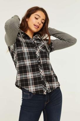 Ardene Hooded Super Soft Plaid Shirt