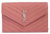 Saint Laurent Women's Quilted Calfskin Leather Wallet On A Chain - Pink