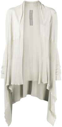 Rick Owens Asymmetric-Hem Cotton Cardigan