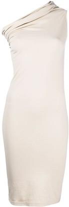 Rick Owens One-Shoulder Bodycon Dress
