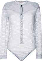 Nina Ricci sheer lace top