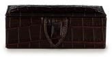 Smythson Crocodile-effect Leather Cufflink Case