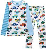 XiaoYouYu Big Boy's Contrast Color Car Print Cotton Pajama Sets US Size 6
