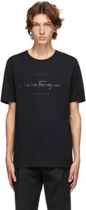 Salvatore Ferragamo Black Logo T-Shirt