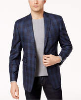 Michael Kors Men's Classic-Fit Blue & Green Plaid Sport Coat