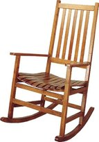 Coaster Southern Country Plantation Porch Rocker/Rocking Chair, Oak Wood Finish by COASTER