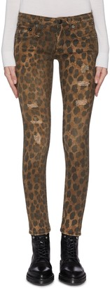 R 13 'Kate' leopard print skinny jeans