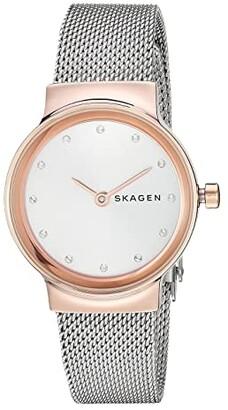 Skagen Freja - SKW2716 (SKW2716 Rose Gold Silver Stainless Steel Mesh) Watches