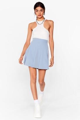 Nasty Gal Womens Pleated Loose Mini Skirt - Blue - 12