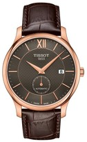 Tissot Tradition Automatic Leather Strap Watch, 40Mm