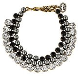 Gucci Faux Pearl & Crystal Collar Necklace