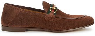 Gucci Brixton brown suede loafers