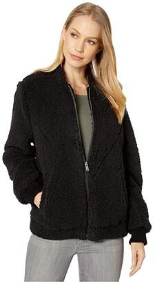 UGG Annalise Teddy Jacket (Black) Women's Clothing