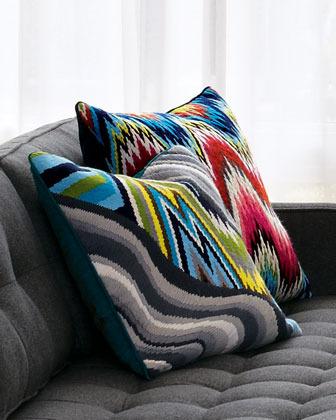 "Jonathan Adler Positano"" Needlepoint Pillow"