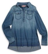 Blank NYC Girl's Let It Out Denim Shirt Dress