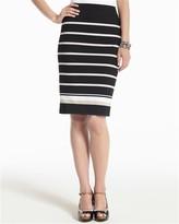 Striped Ponte Pencil Skirt