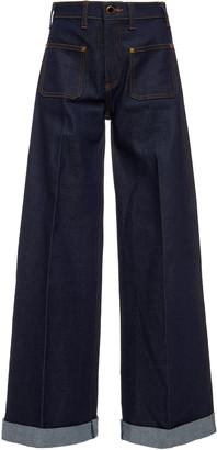 KHAITE Ray High-Rise Wide-Leg Jeans