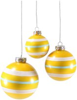 Cody Foster & Co Vintage Striped Ornament Set