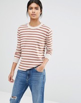 Selected Maia Fine Gage Sweater in Stripe